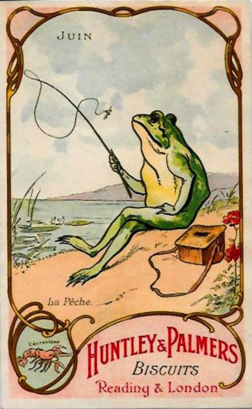 Винтажная реклама с лягушками